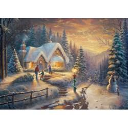 Country Christmas Homecoming 1000 Jigsaw Thomas Kinkade