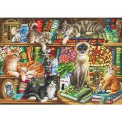 Puss in Books Judith Yates 1000pc Puzzle