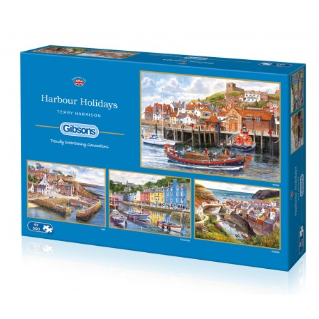 Harbour Holidays 4 x 500pc Jigsaw